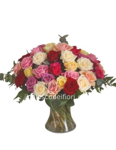Bouquet  con roselline assortite